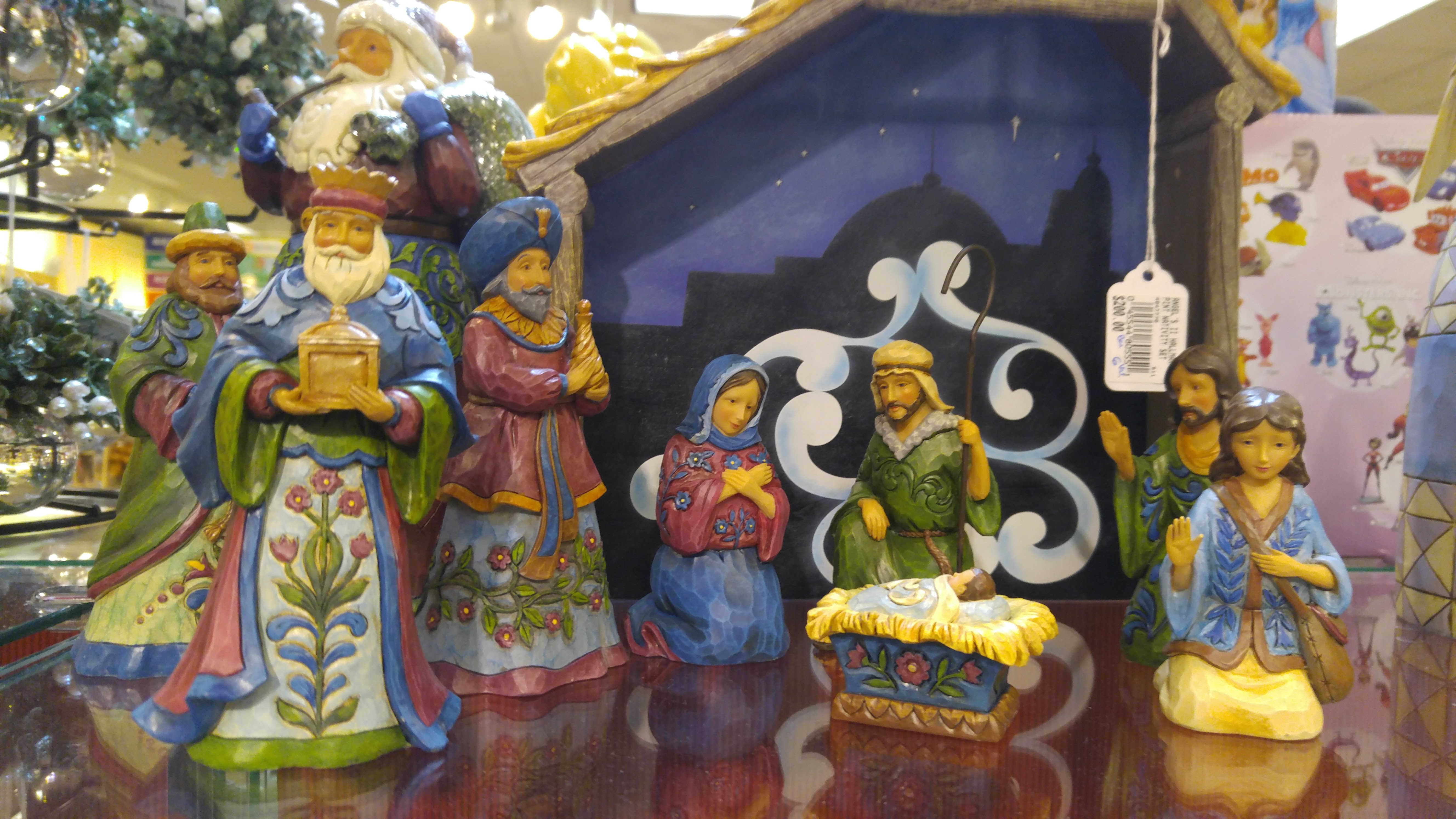 United States Style, Nativity for Sale with Christ Child a Permanent Part