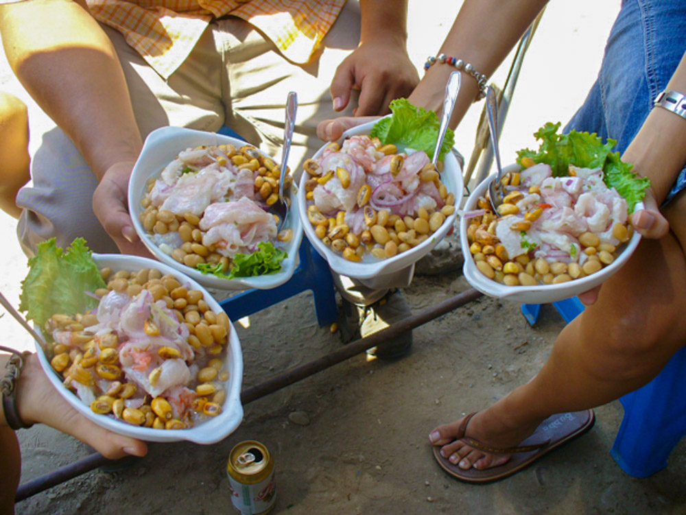 Yum Yum, ceviche from a Street Car