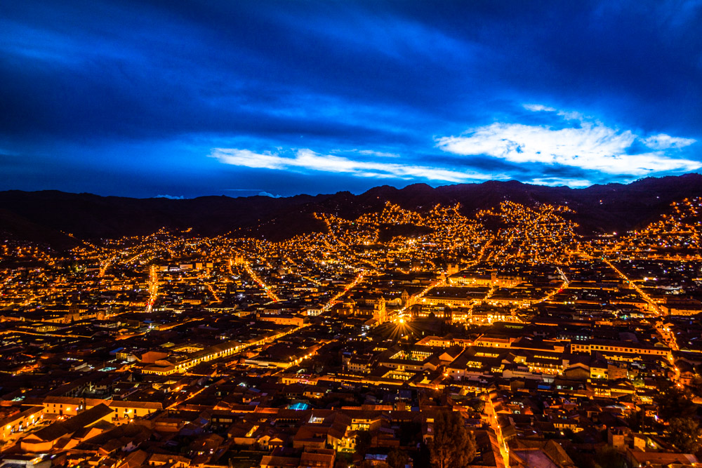 Starting the night in the Imperial City of Cuzco