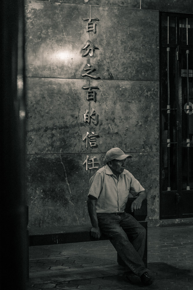 Street Portrait of Man Waiting for Somebody, Barrio Chino