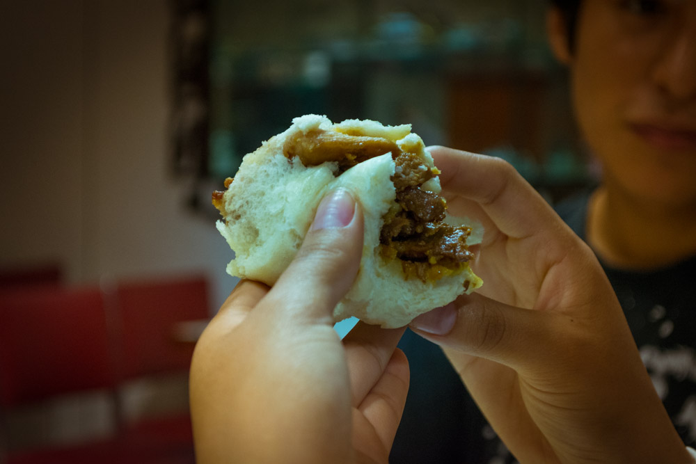 Yumm It is Min Pao Filled with chicken and Pork